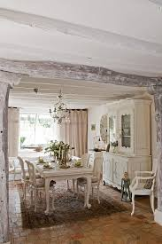 Y  Allwhite Dining Room Delivers A Tranquil French Country Look Design  Catherine Sandin