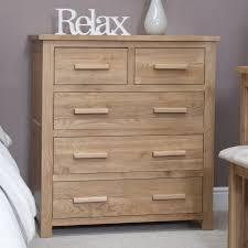Modern Oak Bedroom Furniture Eton Solid Modern Oak Furniture 2 Over 3 Bedroom Chest Of Drawers