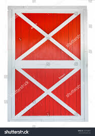 red and white barn doors. Red Barn Door Isolated On White Background And Doors