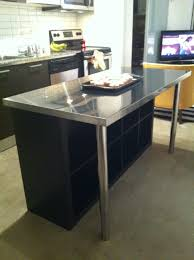Metal Kitchen Island Tables Tiny Kitchen Island Ideas With Chrome Metal Kitchen Table And