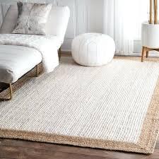round jute rug 5 natural fiber braided reversible border jute white rug 3 x 5 jute