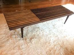 slat coffee table mid century modern walnut maple slat coffee table flinders slat coffee table