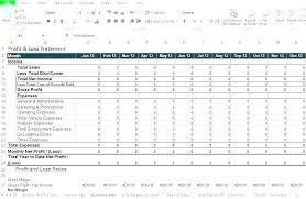 Simple P L Excel Template Free Profit And Loss Statement For Self Employed Simple