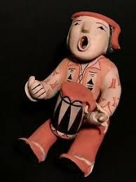 ADA SUINA (b.1930- ),FINE STORYTELLER POLYCHROME POTTERY DOLL W/  DRUM,EXCELLENT! | eBay
