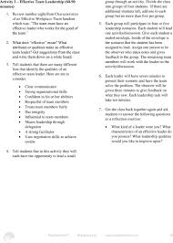Qualities Of A Good Team Leader Lesson Effective Teamwork In The Workplace Pdf