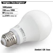garage door opener bulbLED A19 Light Bulb 100W Equivalent E26 Base  TORCHSTAR