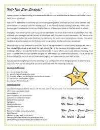 Wele Letter Parent Letter Template Meet The Teacher Letter From