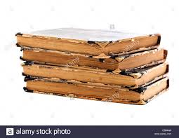 old books on a white background book binding