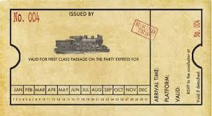 Free Printable Customizable Train Ticket Invitation Perfect For