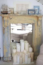 faux fireplace mirror insert candles not so much youth room