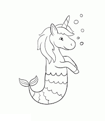 Cute unicorn coloring pages for kids: Unicorn Mermaid Coloring Pages New Free Coloring Pages