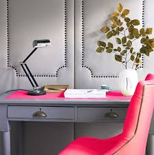 furniture office decor with grey office desk feat pink top also small black table lamp