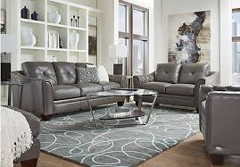 gray leather couch. Architecture 2 177 00 Marcella Gray Leather 3 Pc Living Room Classic Intended For Sofa Set Couch G
