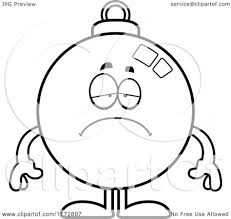 Small Picture Coloring Pages Cartoon Clipart Of A Depressed Christmas Ornament