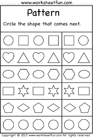 Free Printable Worksheets For Preschoolers Shapes L L L L L L L L