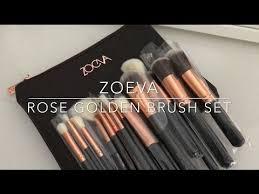 fake zoeva brush set brown 15pcs review