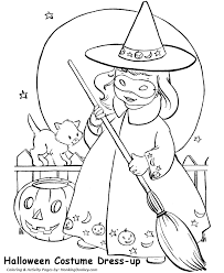 Halloween Witch Coloring Pages Little Girl Halloween Witch