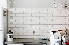 Installing White Subway Tile Kitchen Wall Home Design 1