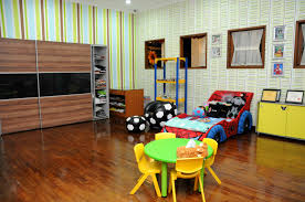 Decorations:Colorful Kid Playroom Design Ideas With Red Color Domination  Outstanding Kids Paly Room Decor