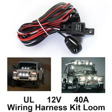 200w 12v wiring harness kit loom for led work driving light bar 200w 12v wiring harness kit loom for led work driving light bar fuse relay