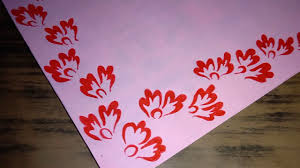 Chart Design Border Pink Chart Decoration Red Flower Design Two Side Border Decoration Design