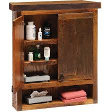 rustic oak bathroom wall cabinet