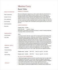 banking resumes basic banking resumes 38 free word pdf documents download