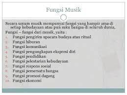 (f) sarana ekonomi (tim kemdikbud, 2017, hlm. Pengertian Musik Secara Umum