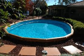 semi inground concrete pools. Fine Semi Alluring Semi Inground Pools For Elegant Backyard  Stunning  With Concrete Walkway Unit To O