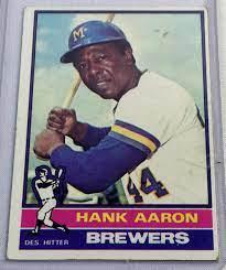 1976 Topps #550 Hank Aaron Milwaukee ...