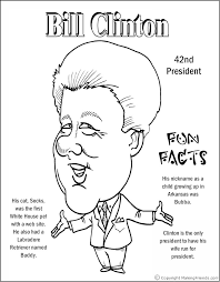 Small Picture Bill Clinton Coloring Page Coloring Pages Pinterest Bill