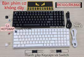 CÓ SẴN) Royal Kludge RK100 - Bàn phím cơ không dây RK100 RK860 Wireless  2.4G + Bluetooth 5.1 + Có dây Type C + Hotswap thay nóng các Switch | Bàn  Phím Chơi Game