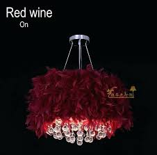 pink feather chandelier color white pink purple red wine sky blue red black deep purple yellow