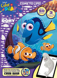 Coloring is a great way to spend quality time with your little one and also a great. Disney Finding Dory Color Play Sticker Scene Coloring Book Bendon