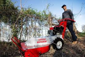 hydro brush cutter little wonder little wonder brush cutter cuts debris along fences
