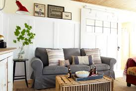 Wainscoting For Living Room High Wainscoting Designed Behind Grey Living Room Sofa Also Black
