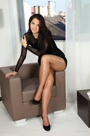 Sexy outfit with sheer nude pantyhose Elegant body legs. Things.