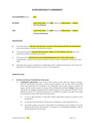 Web Design Confidentiality Agreement Confidentiality Agreement Template Easy Legal Templates
