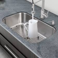 Granite Undermount Kitchen Sinks Vigo 30 Inch Undermount Single Bowl 18 Gauge Stainless Steel