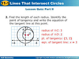 find the length of each radius identify the