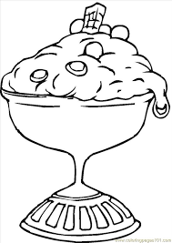 Small Picture Dessert with a Cherry Coloring Pages Get Coloring Pages