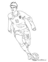 Small Picture Of Soccer Players Coloring Page Free Download