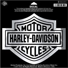 harley davidson large chrome bar and shield decal d3024c