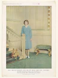 "H.R.H. Princess Elizabeth, With Her Pet Welsh <b>Corgi Dog</b>, ""Crackers ..."