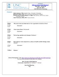 Staff Meeting Agenda Faculty And Staff Meetings UNC Gillings School Of Global Public 15