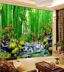 Druck Fenster Vorhänge Modernen Bambus 3d Vorhänge Wohnzimmer