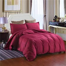 solid color striped home hotel style duvet cover pillowcase set twin double full queen king size bedding no sheet no filling comforter queen sets cotton