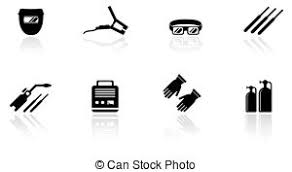 welding tools clipart. set of welding equipment icons tools clipart p