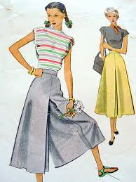 Vintage Sewing Patterns Beauteous Vintage Sewing Pattern 48s Culottes Pants Blogged Here
