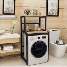 Kệ máy giặt 2 tầng cửa trước KMG03 Sản xuất tại Việt Nam rất chắc chắn,  khung thép dày dặn sơn tĩnh điện chống bong tróc, gỗ lõi xanh phủ melamine  chống
